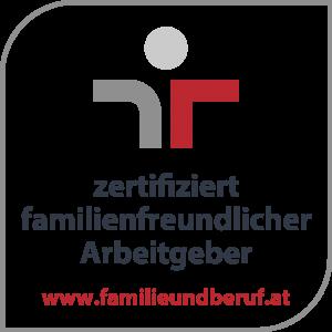 Gütezeichen zertifiziert familienfreundlicher Arbeitgeber